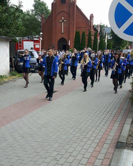 Występ Nowomiejskiej Orkiestry Dętej w Ryjewie