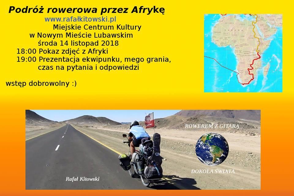 Podróż rowerowa przez Afrykę z Rafałem Kitowskim.