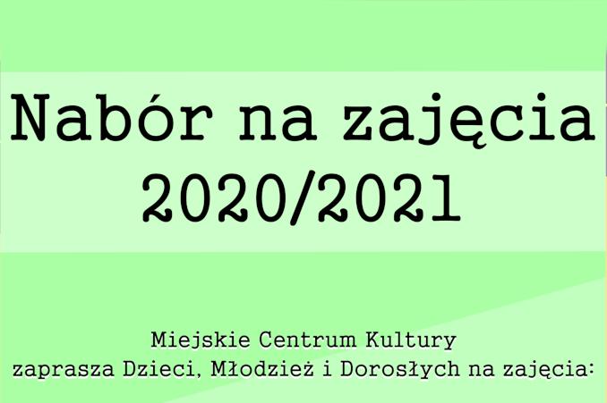 Nabór na zajęcia 2020/2021